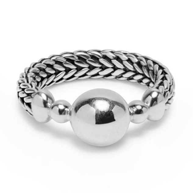 Buddha to Buddha 003 Ring Batas Sphere Ring zilver Maat 17,5