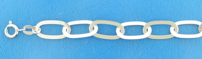 TFT Armband Zilver Paperclip 8 mm 19 cm