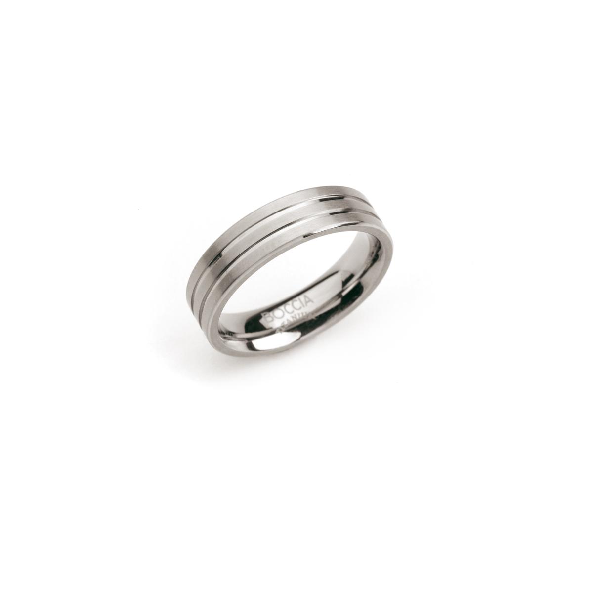 Boccia 0101 02 Ring Titanium zilverkleurig 6 mm Maat 56