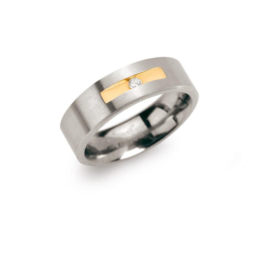 Boccia 0101 0850 Ring Titanium Zilverkleurig Maat 50