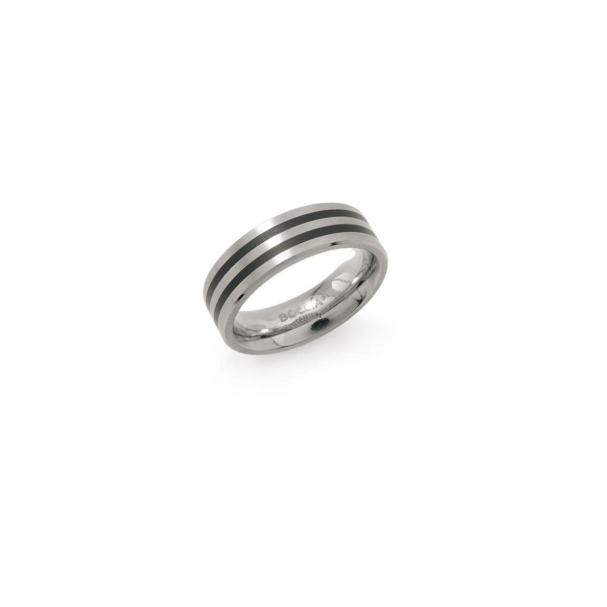 Boccia 0101 1754 Ring Titanium Emaille Zilverkleurig Maat 54