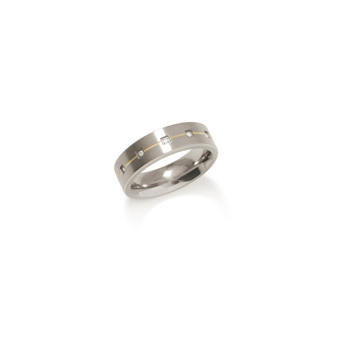 Boccia 0101 1960 Ring Titanium Zilverkleurig Maat 60