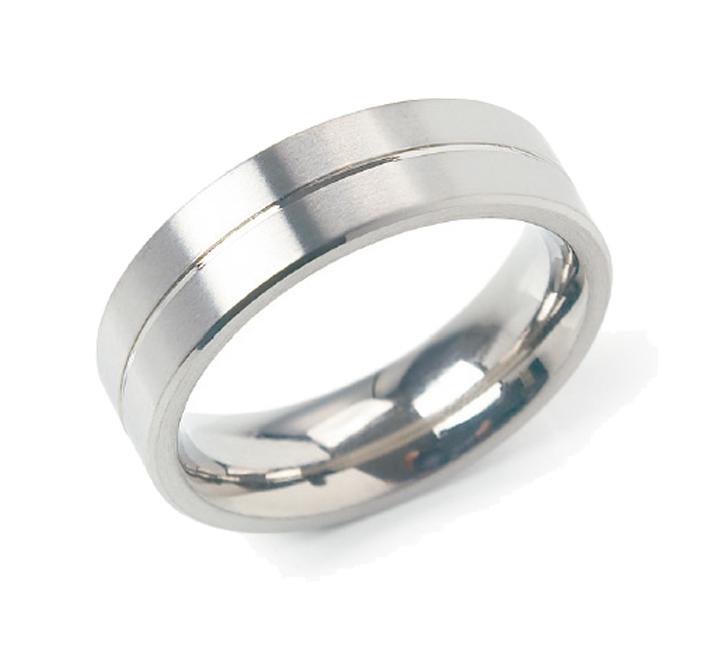 Boccia 0101-2258 Ring Titanium Zilverkleurig Maat 58