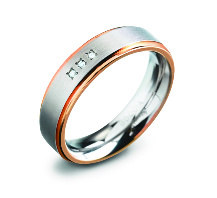 Boccia 0134 0260 Ring Titanium Zilverkleurig Maat 60