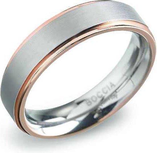 Boccia 0134 0356 Ring Titanium Zilverkleurig Maat 56