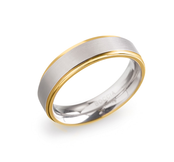 Boccia 0134 0565 Ring Titanium Zilverkleurig Maat 65