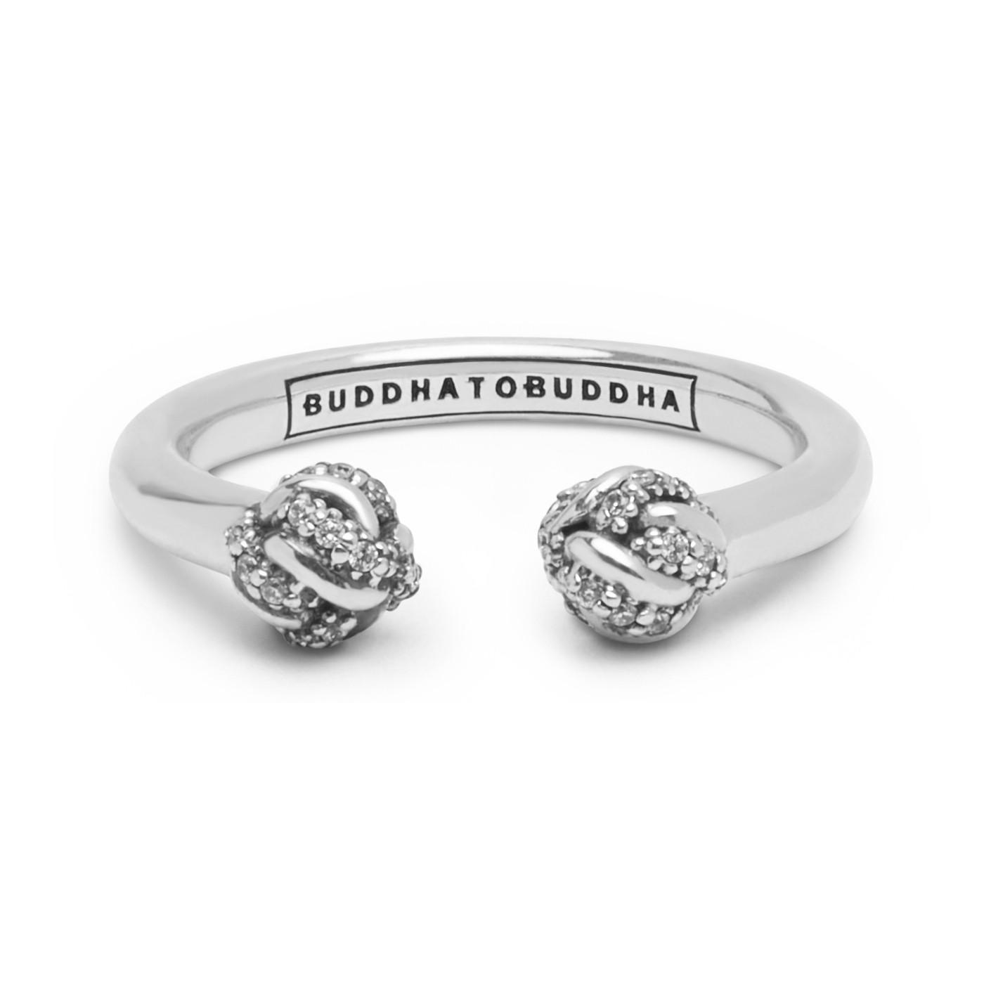 Afbeelding van Buddha to 013WZ Ring Refined Katja zilver met zirconia Maat 19