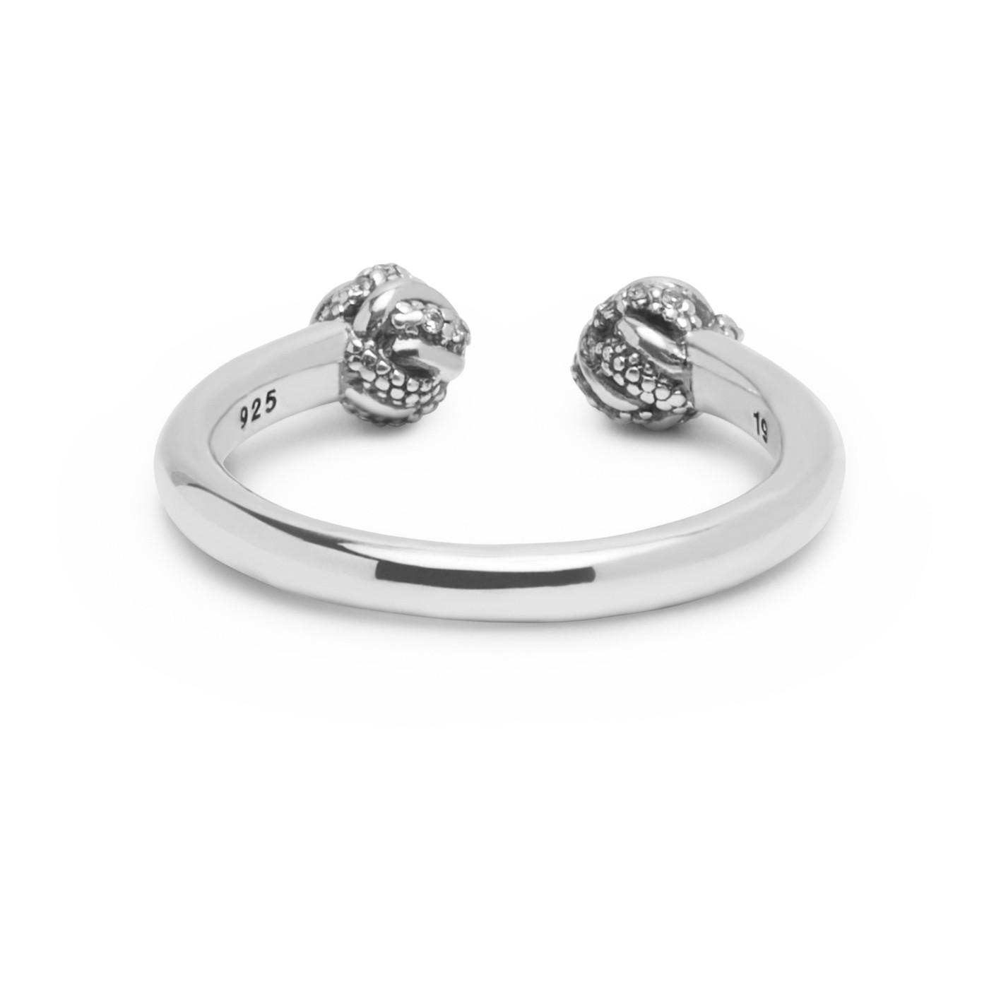 Buddha to Buddha 013WZ Ring Refined Katja zilver met zirconia Maat 18