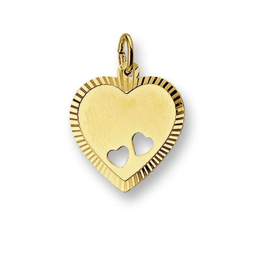 Huiscollectie 4006168 Gouden graveerplaat hartvormig