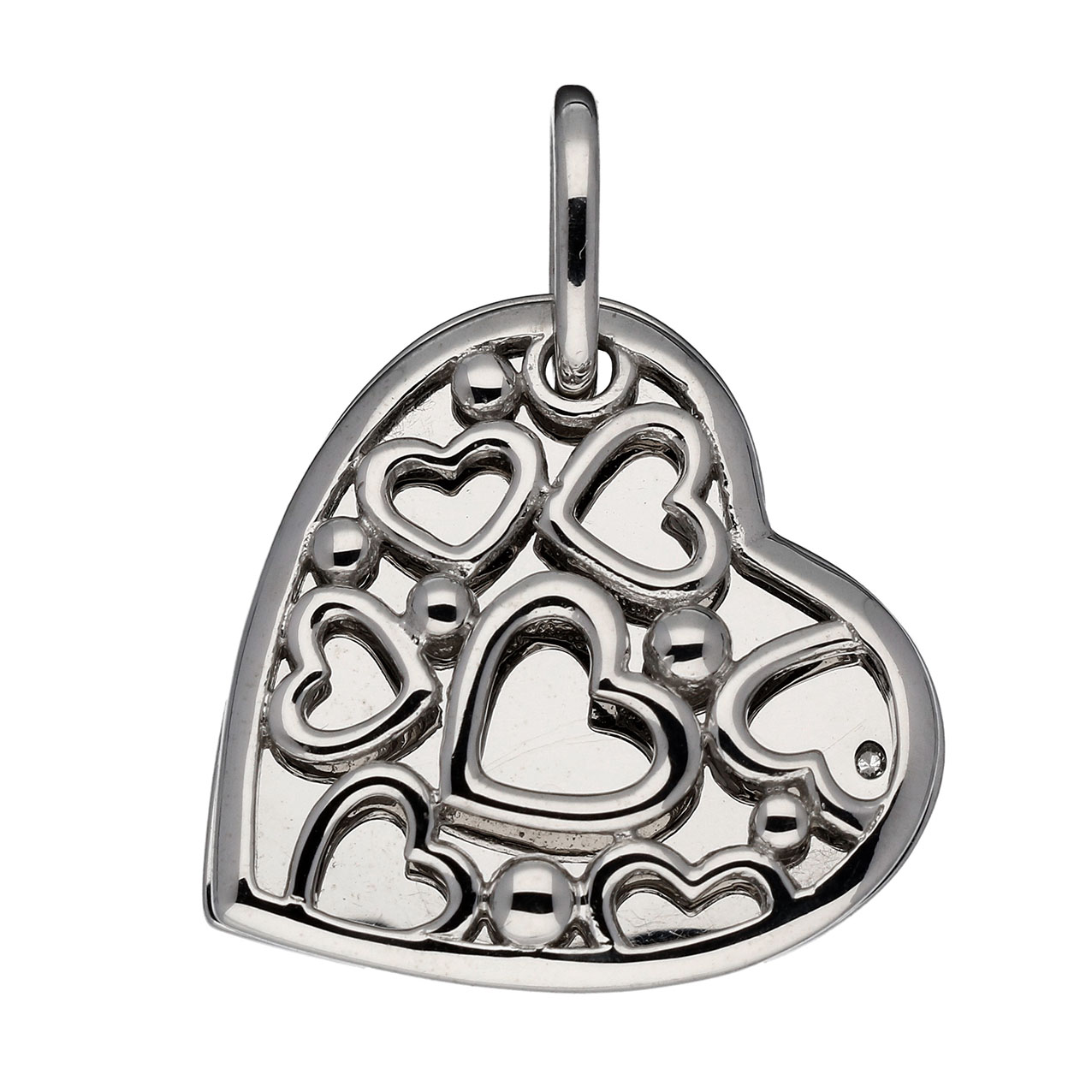 Lifetime Love Zilveren Hanger Medaillon Hart met Diamant 0.005 - 24 mm 145.0118.00