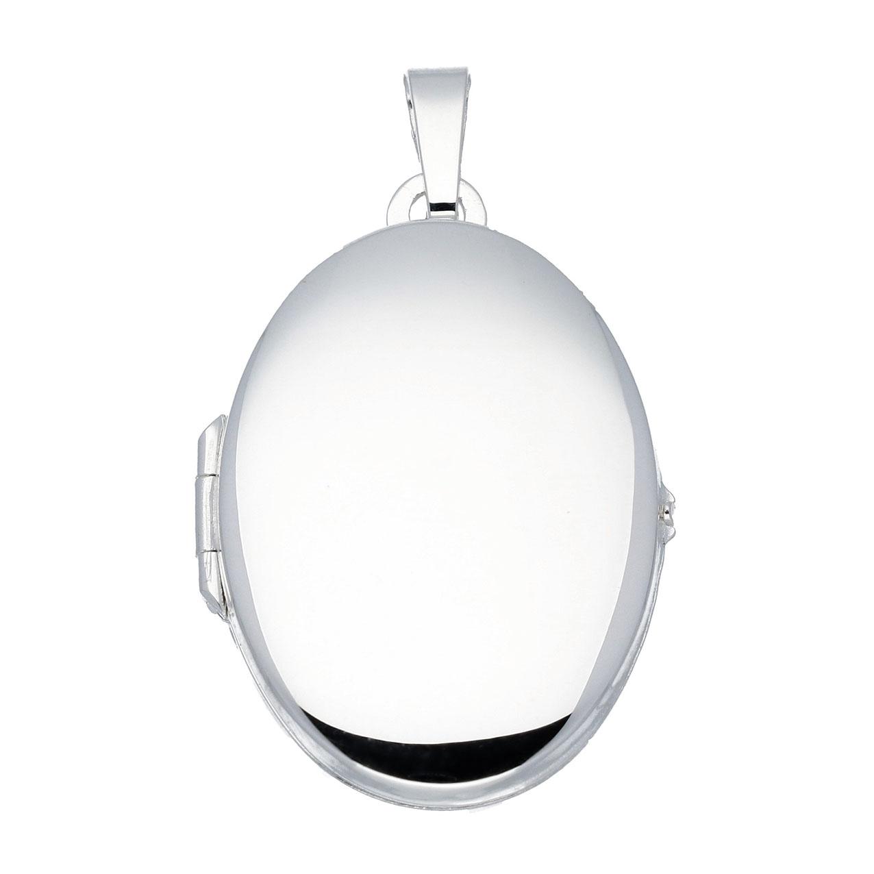 Best Basics 145.0008.00 Zilveren Hanger Medaillon Ovaal 22 x 31 mm
