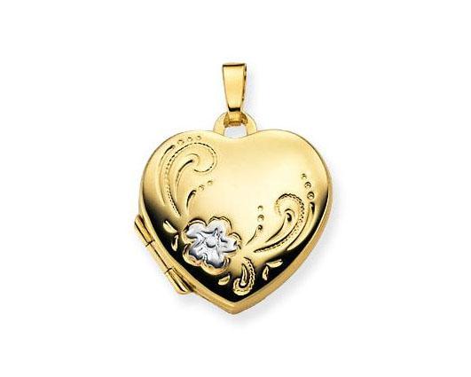 Glow Gouden Medaillon 'Hart' 17 x 17 mm 245.0055.00