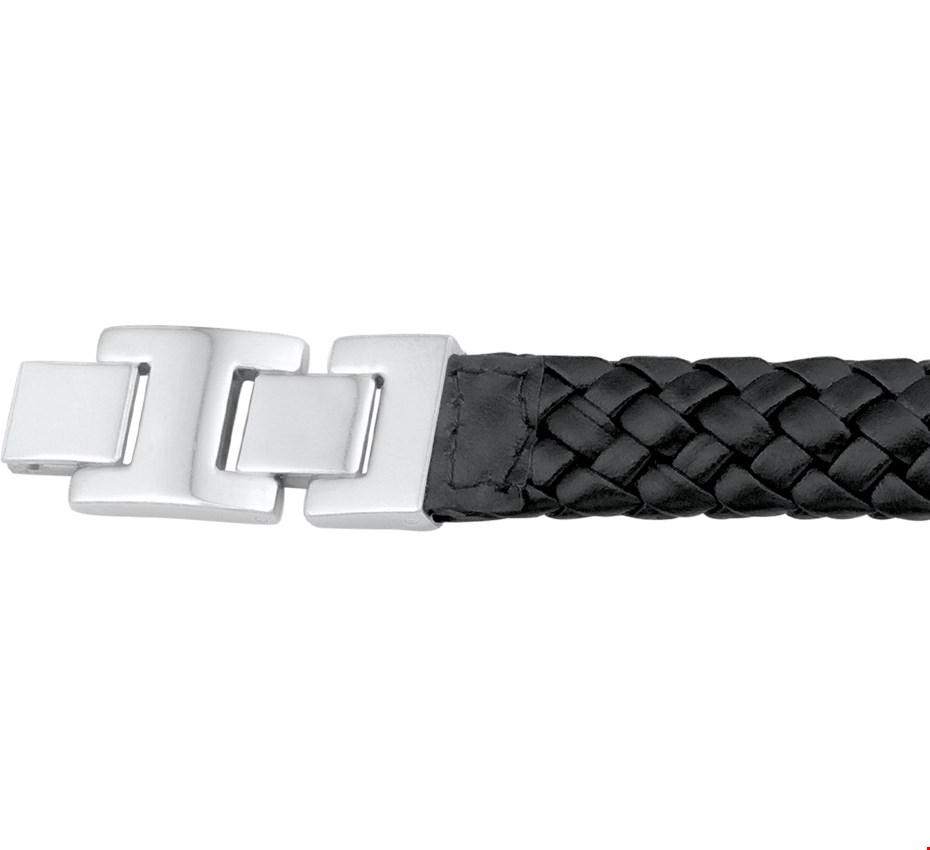 TFT Armband Staal Leer 15,5 mm 20 + 2,5 cm