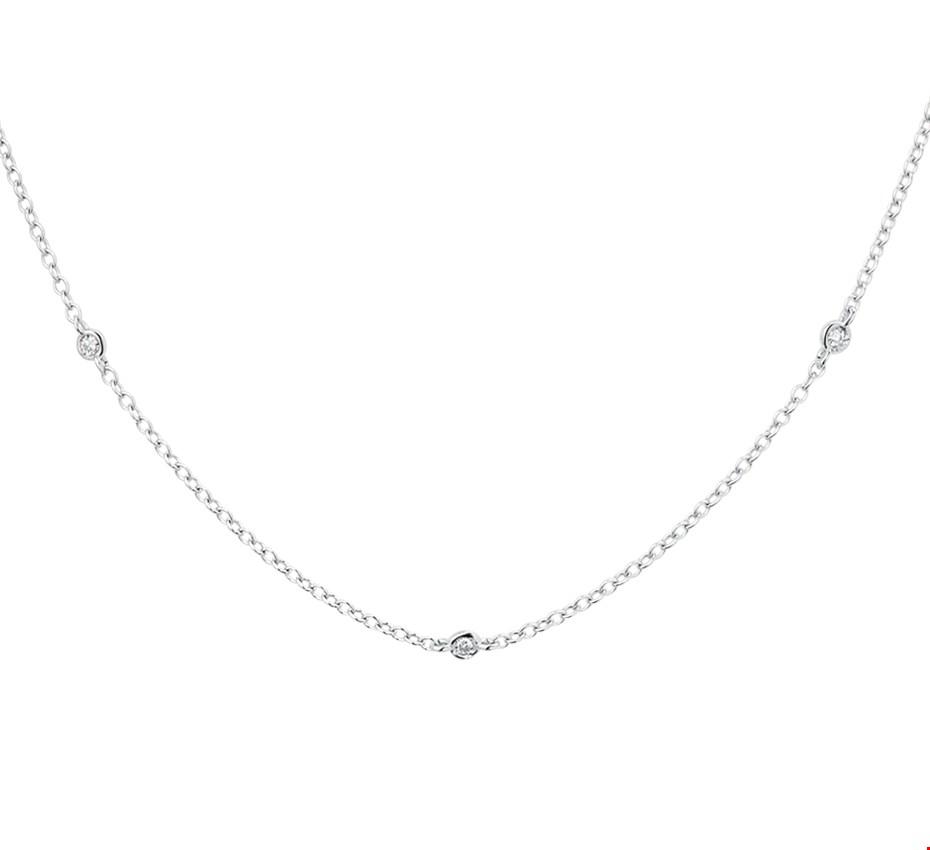 TFT Collier Witgoud Diamant 0.13ct (H SI) 1,4 mm x 41-43-45 cm