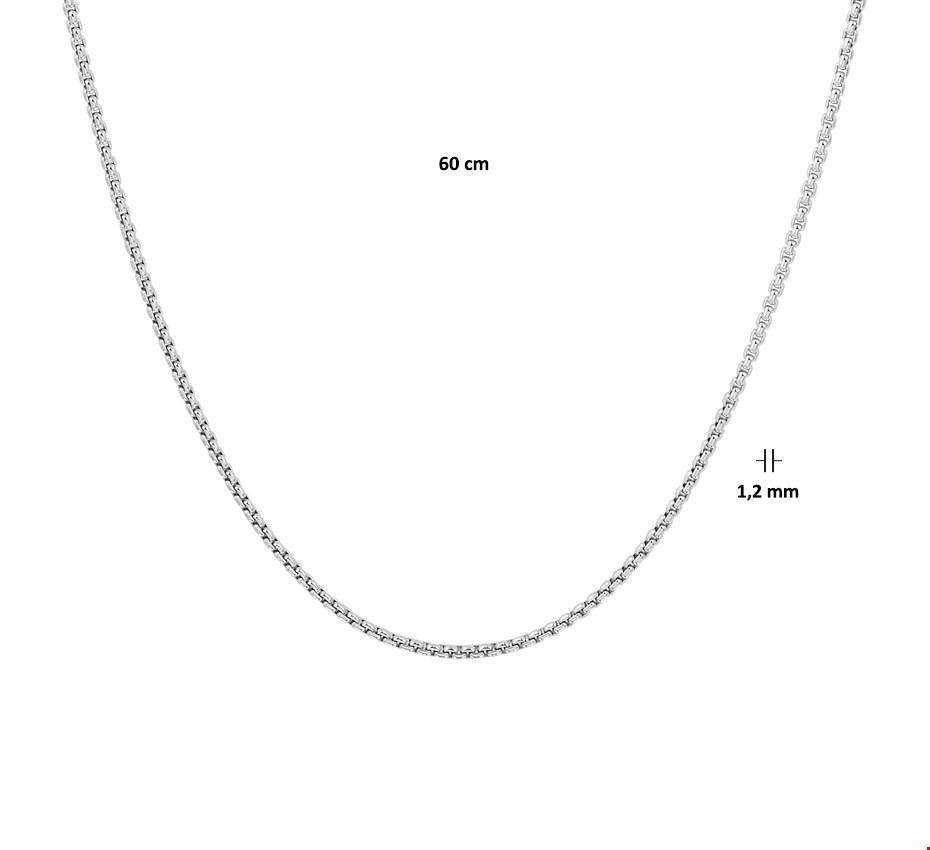 TFT Zilveren Ketting Venetiaans Bol 1,2 mm 60 cm