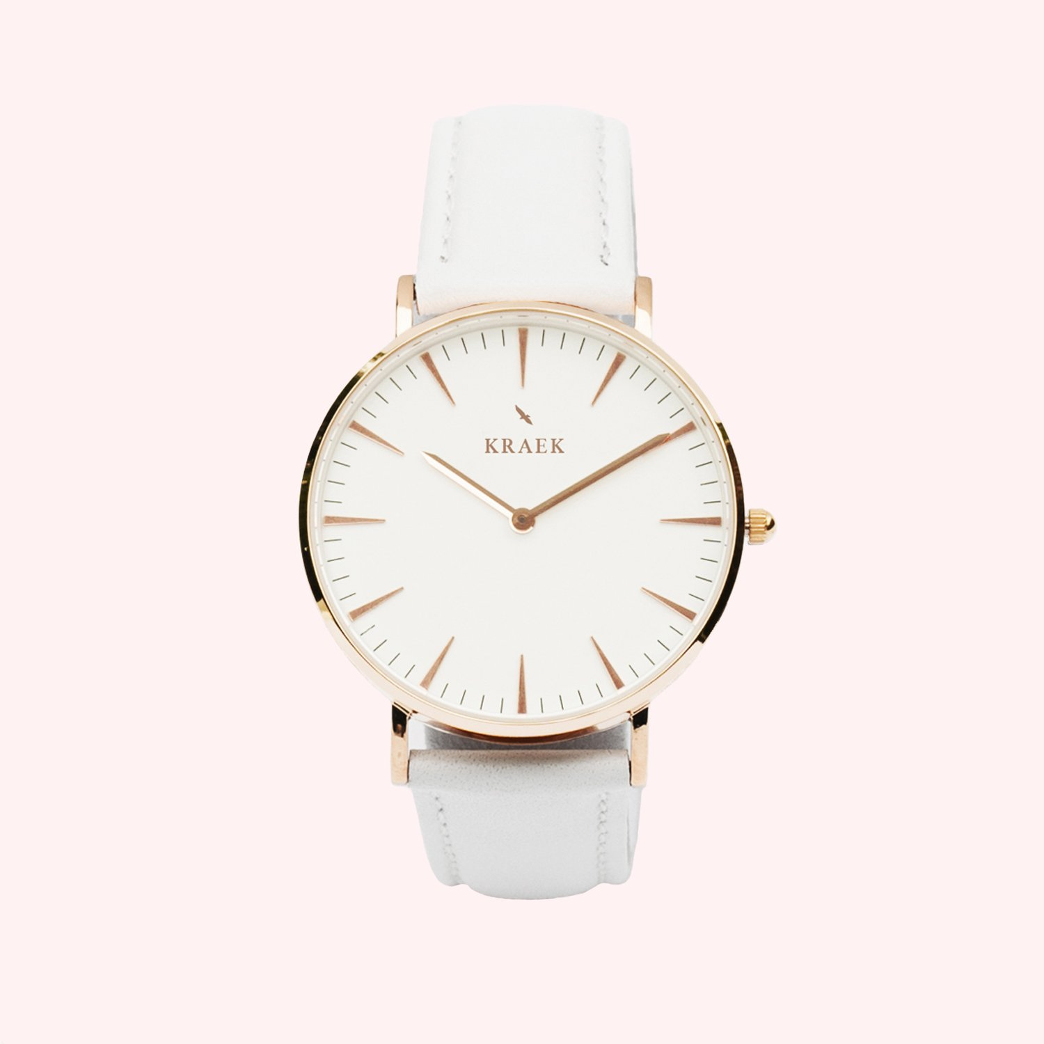 KRAEK Robyn | Rose Gold | White 36 mm Dameshorloge