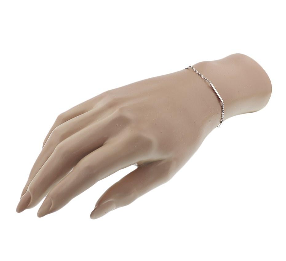 TFT Armband Zilver Balkjes 1,4 mm 16 + 3 cm