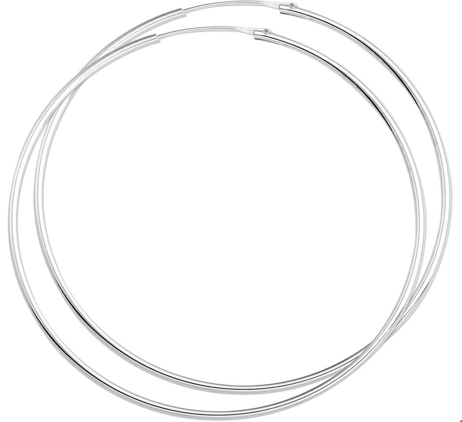 TFT Oorringen zilver ronde buis 1.5 mm x 62 mm