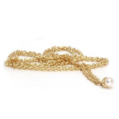 Trollbeads TAUFA-00003 Ketting met zoetwaterparel goud geelgoud/wit 80 cm