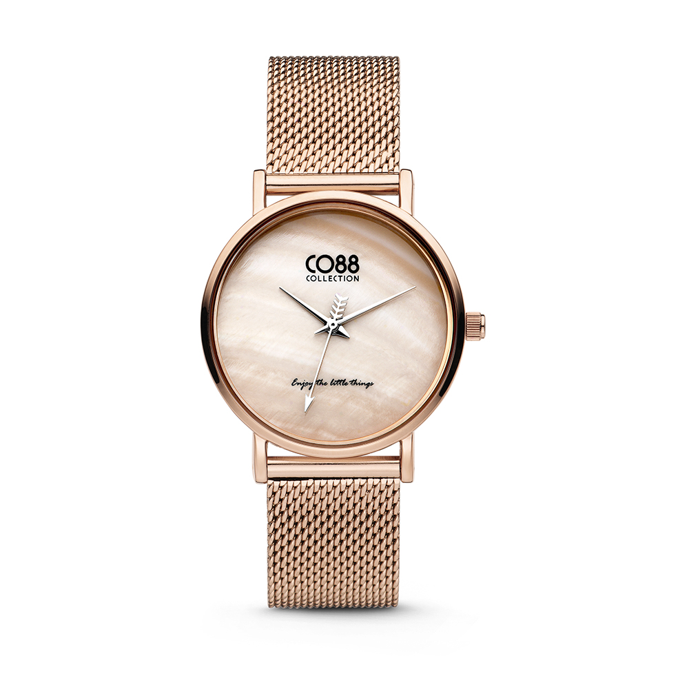 CO88 Collection 8CW-10052 - Horloge - mesh - rosekleurig - ø 32 mm