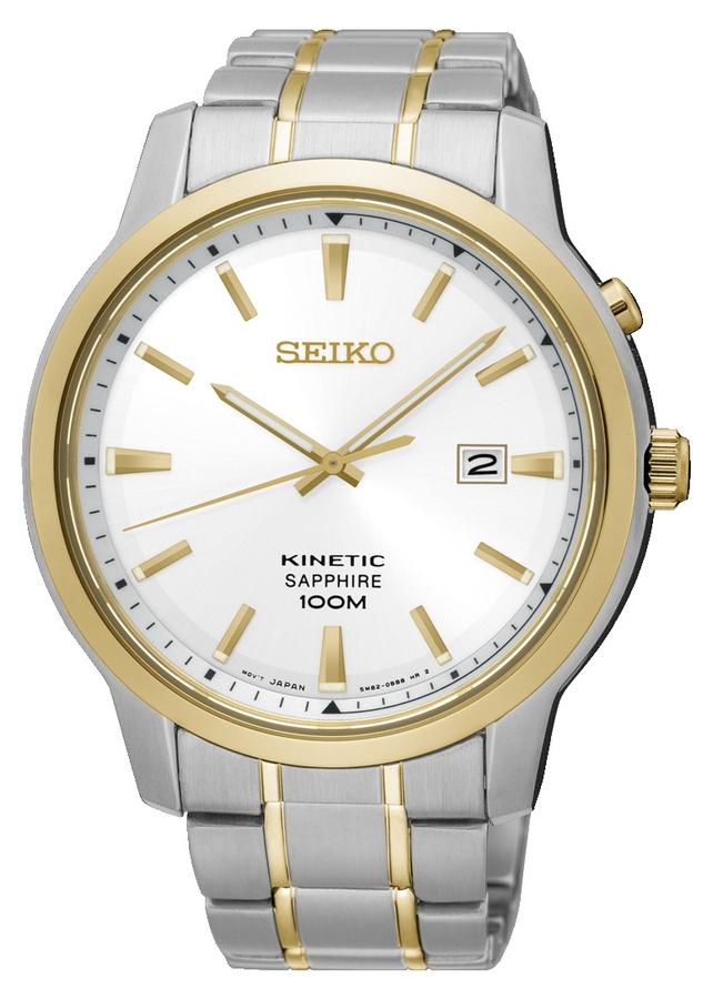 Seiko Herenhorloge Kinetic Goud- en zilverkleurig SKA742P1