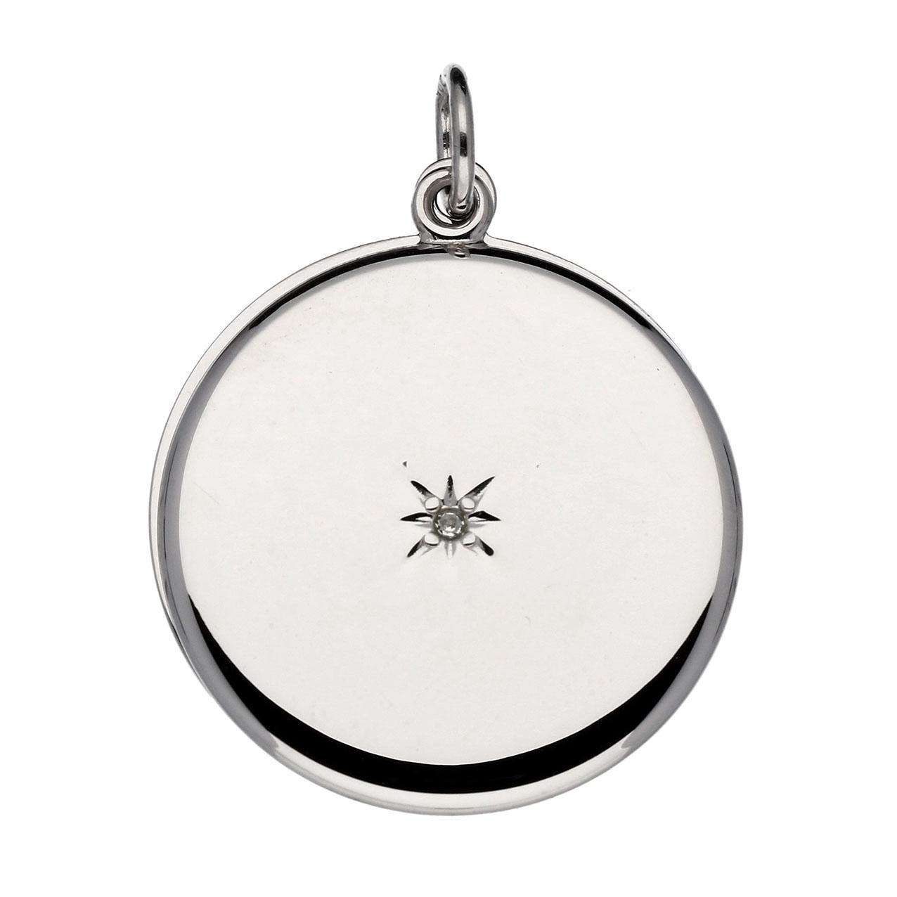 Lifetime Love Zilveren Hanger Medaillon Rond met Diamant 0.005 - 22 mm 145.0121.00