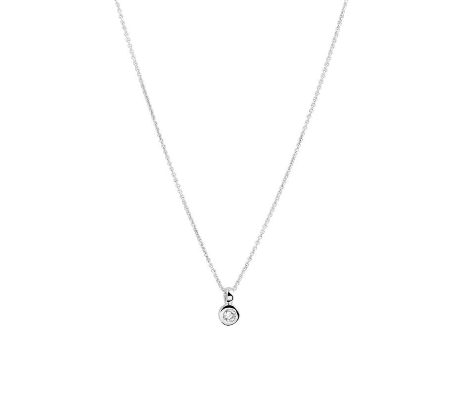 TFT Collier Witgoud Diamant 0.05ct H SI 0,7 mm 39,5 - 42 cm