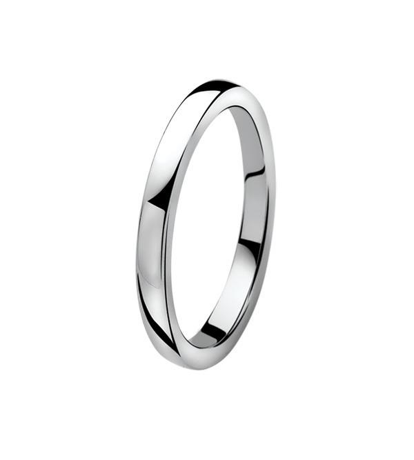 Zinzi ZIR828 Ring zilver glad 2 mm Maat 60