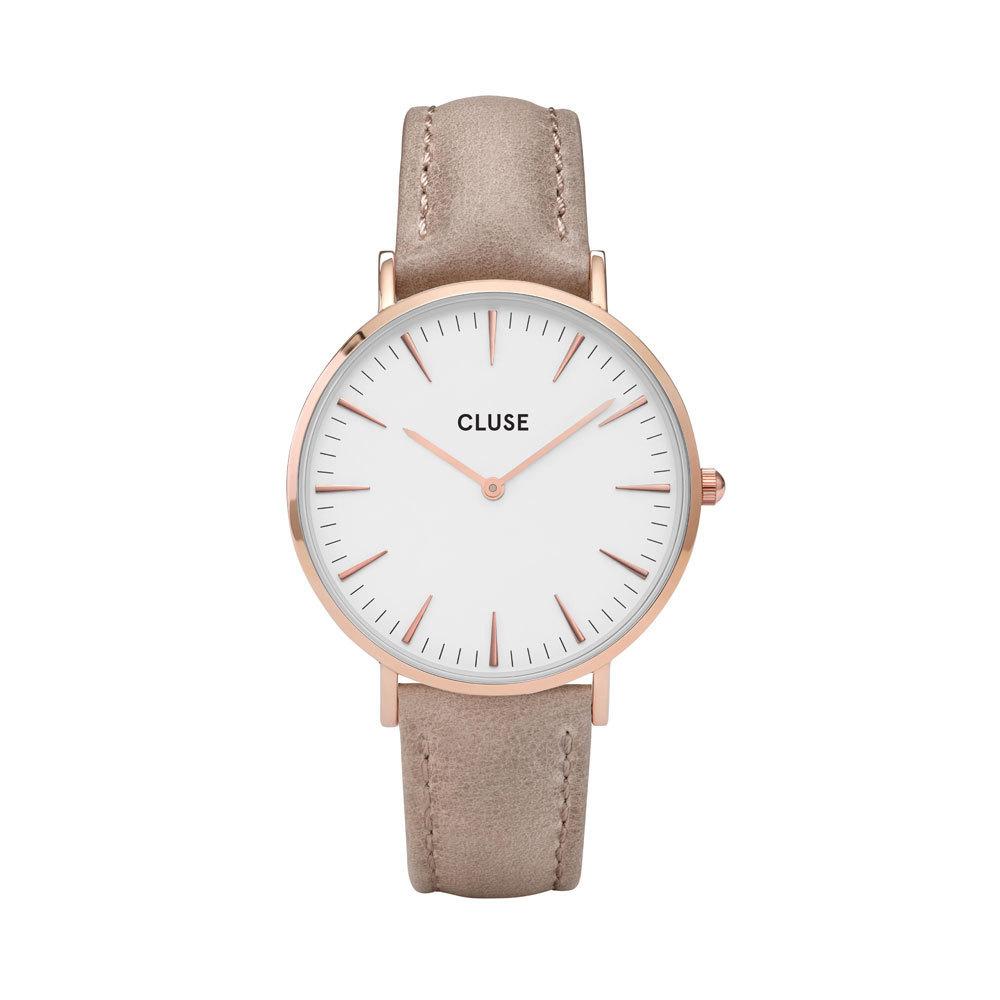 CLUSE CW0101201015 La Boheme Horloge rosekleurig-hazelnoot 38 mm