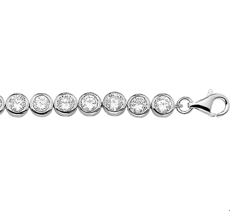 TFT Tennisarmband Zilver Zirkonia 20 cm