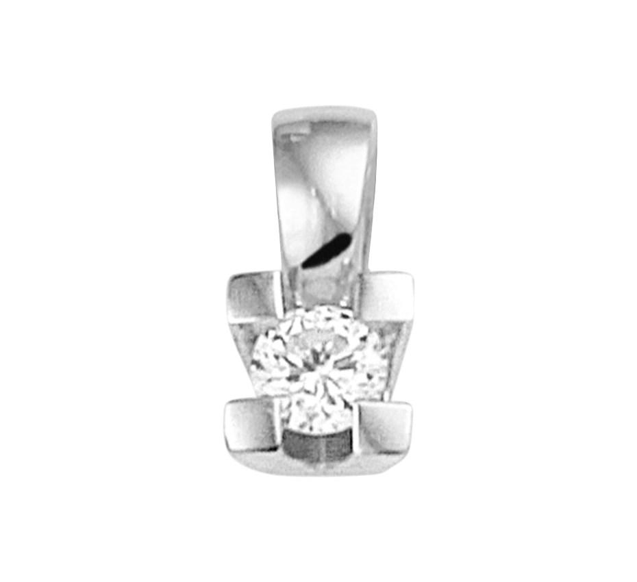 TFT Hanger Witgoud Diamant 0.10ct H SI