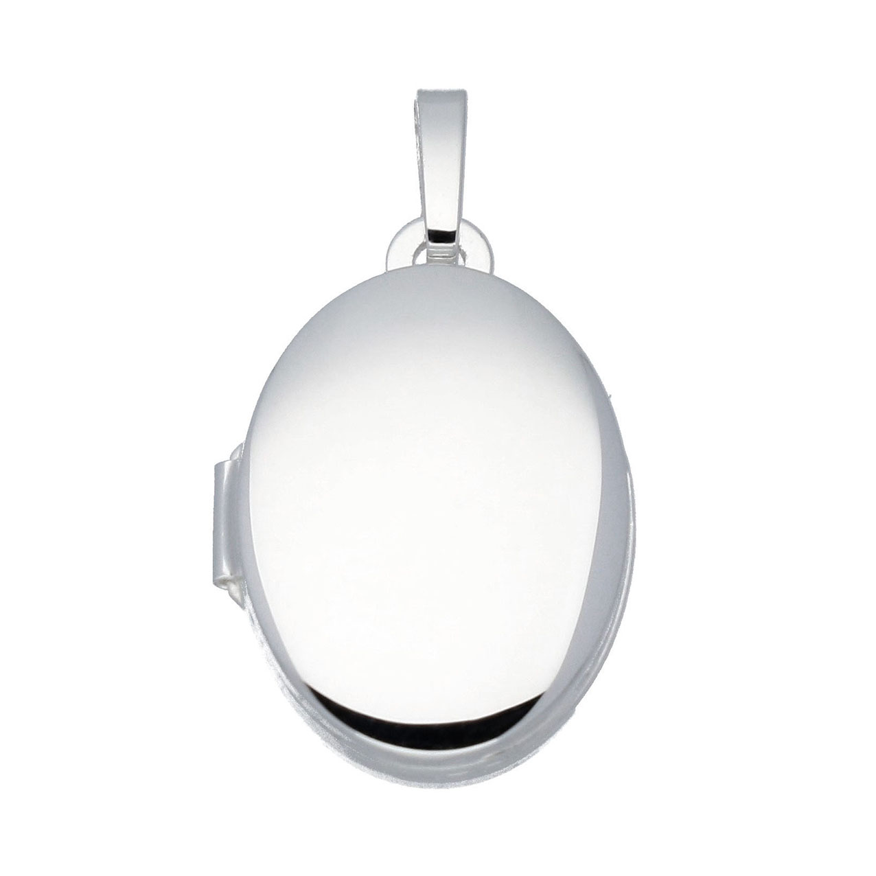 Best Basics 145.0006.00 Zilveren Hanger Medaillon Ovaal 12 x 17 mm