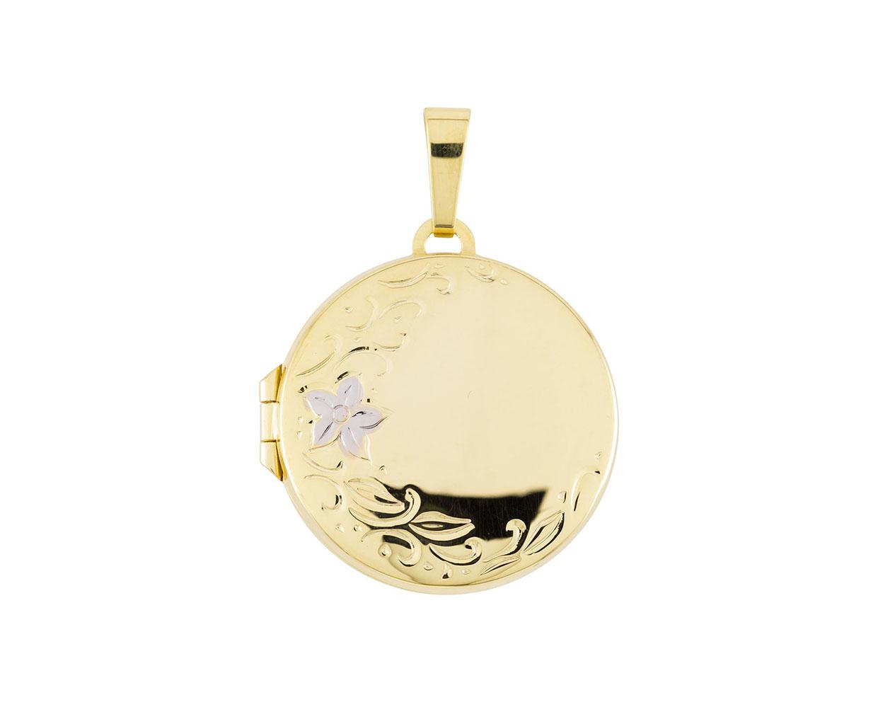 Glow 245.0089.00 Gouden Medaillon Bicolor Rond - 22 x 22 mm