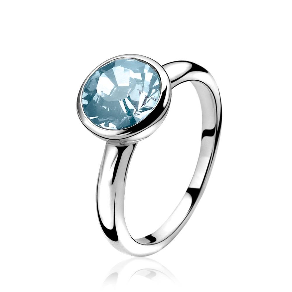 Zinzi ZIR1006A zilveren ring met zirkonia Maat 50 is 16mm