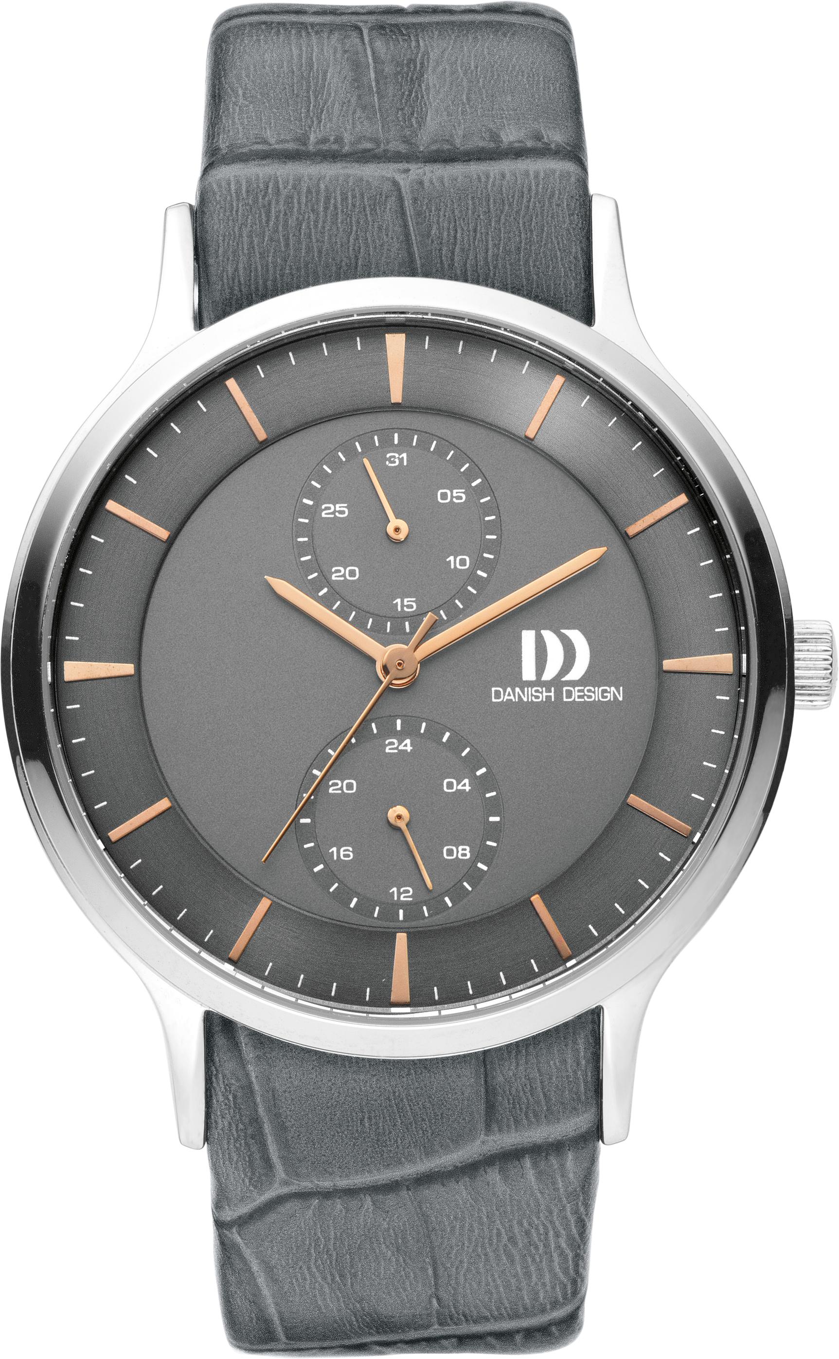 Danish Design horloge staal-leder IQ18Q1155