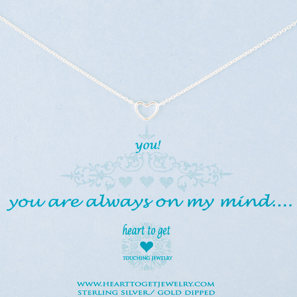 Heart to get N21OPH11S You are always on my mind ketting zilver