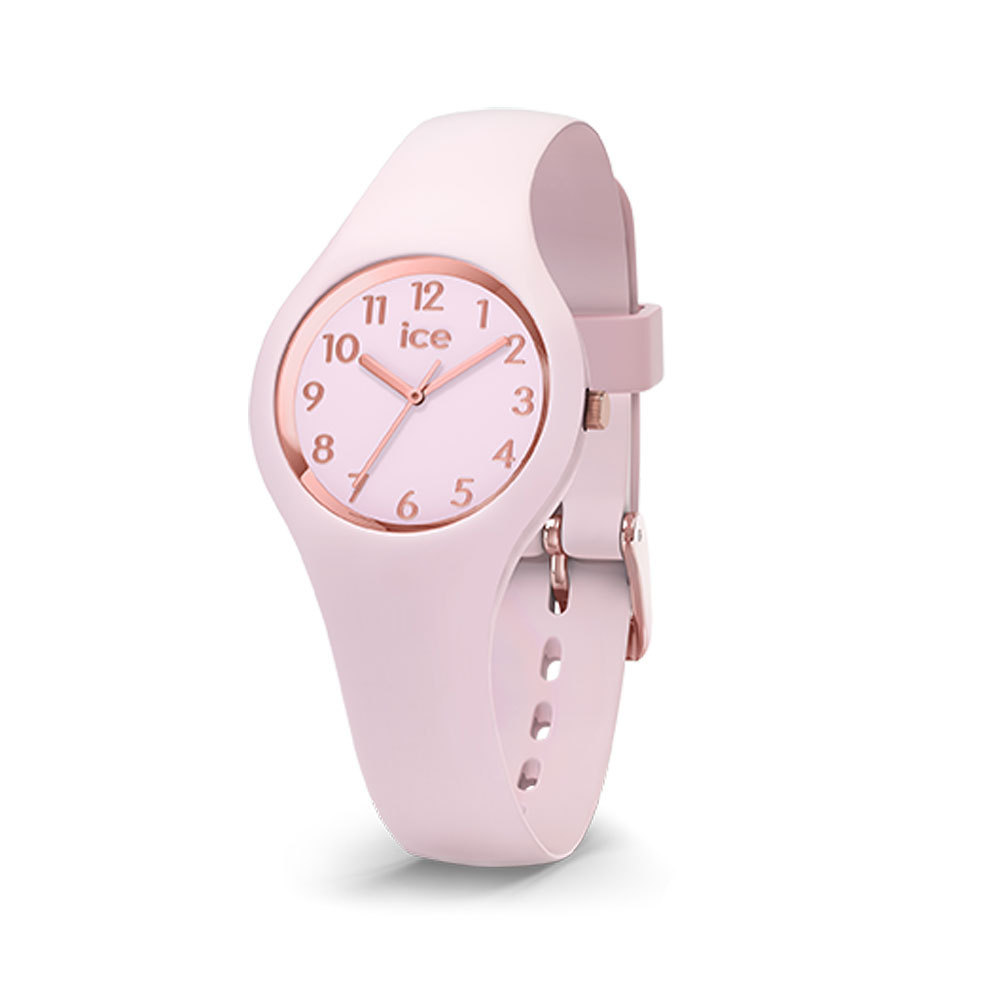 Ice-Watch IW015346 Ice Glam Pastel Pink lady Numbers Extra small 28 mm horloge