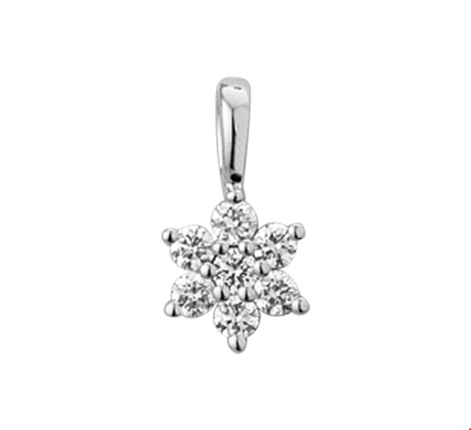 TFT Hanger Witgoud Ster Diamant 0.14 Ct.