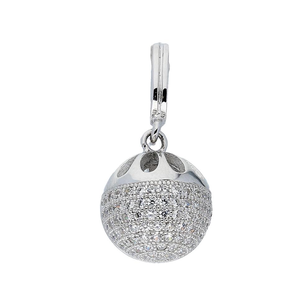Afbeelding van Classics Hanger Bol zilver met zirconia 120.0281.00