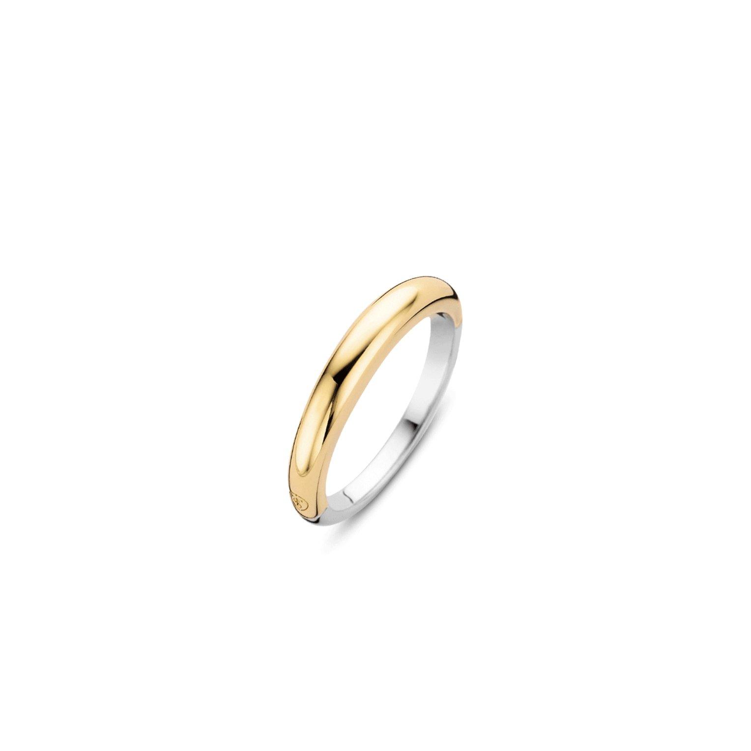 Ti Sento Milano 12104SY Ring zilver goudkleurig 2 3,5 mm Maat 48