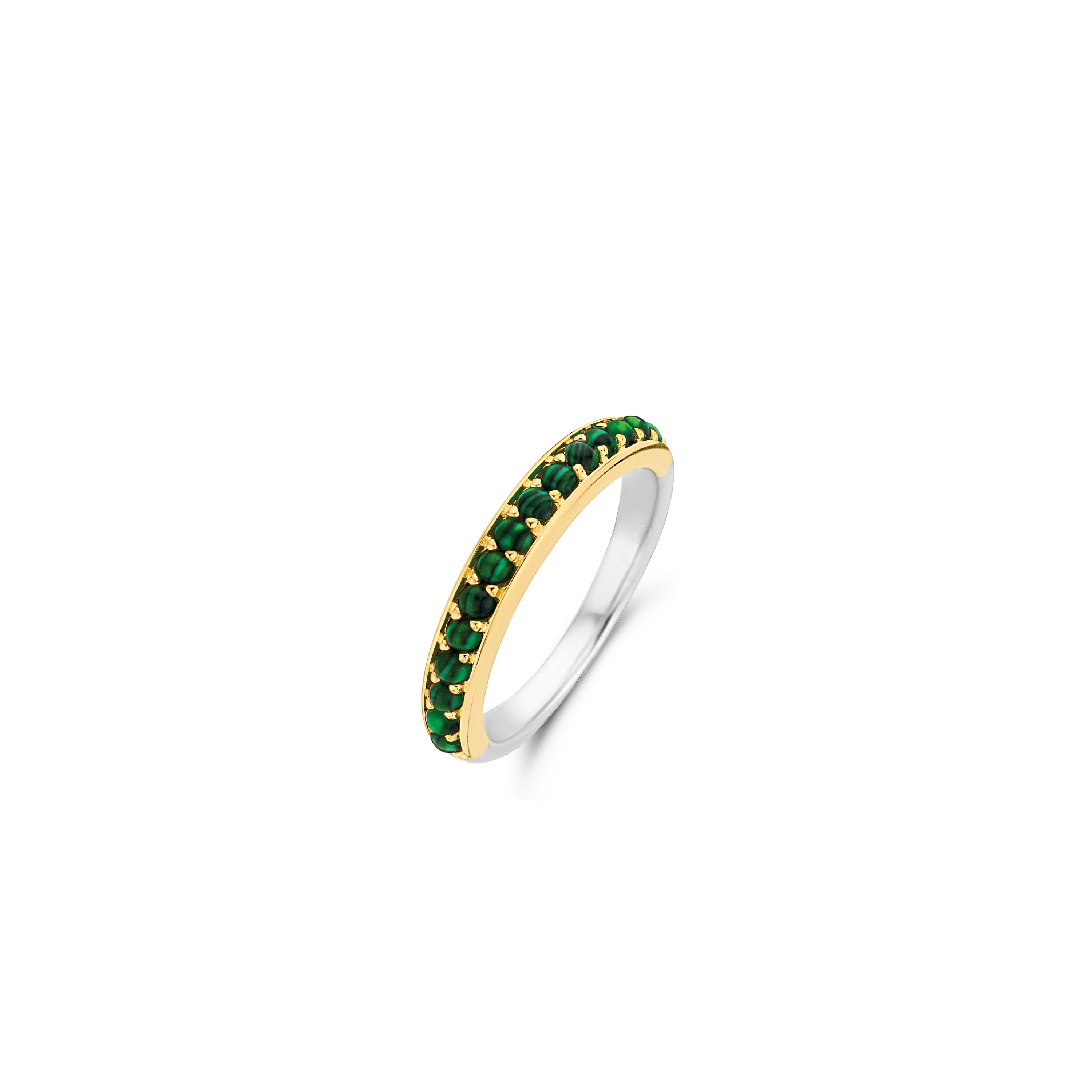TI SENTO Milano Ring 12123MA Zilver gold plated Maat 52