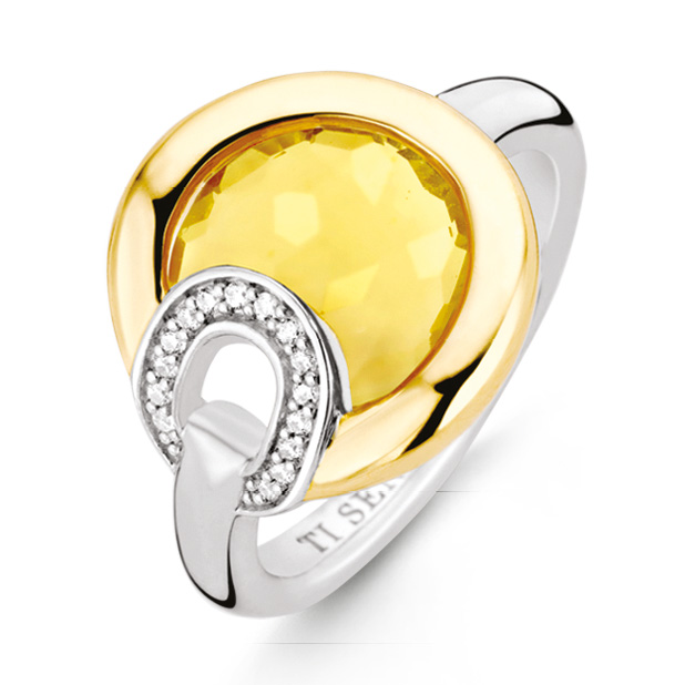 TI SENTO Milano 12159TY ring zilver met zirconia Maat 60