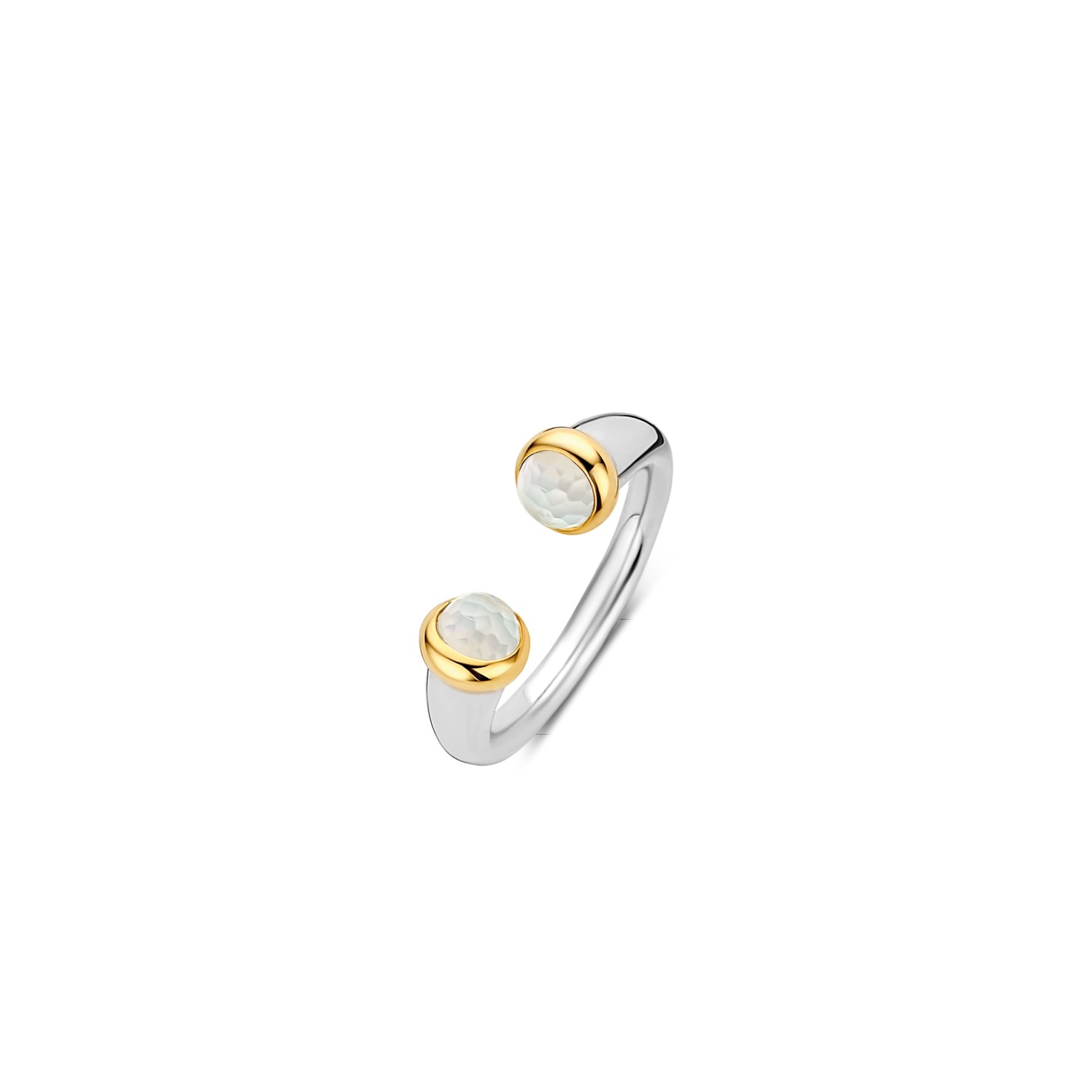 TI SENTO Milano Ring 12177MW Zilver gold plated Maat 48
