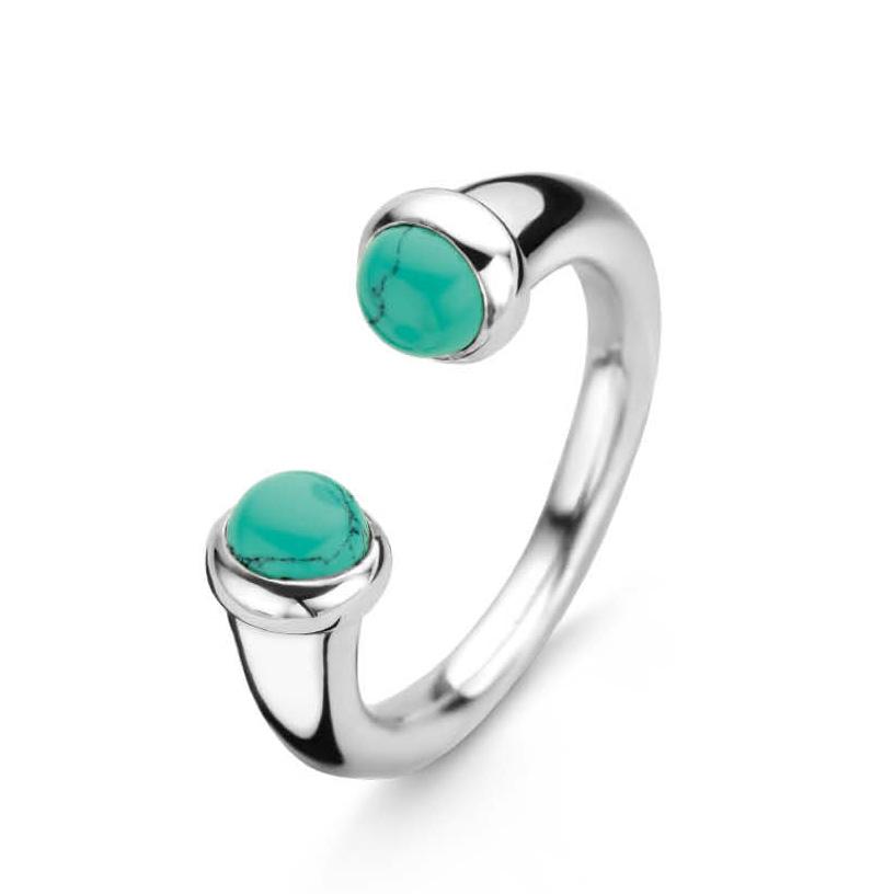 TI SENTO Milano 12177TQ Ring zilver turquoise Maat 62