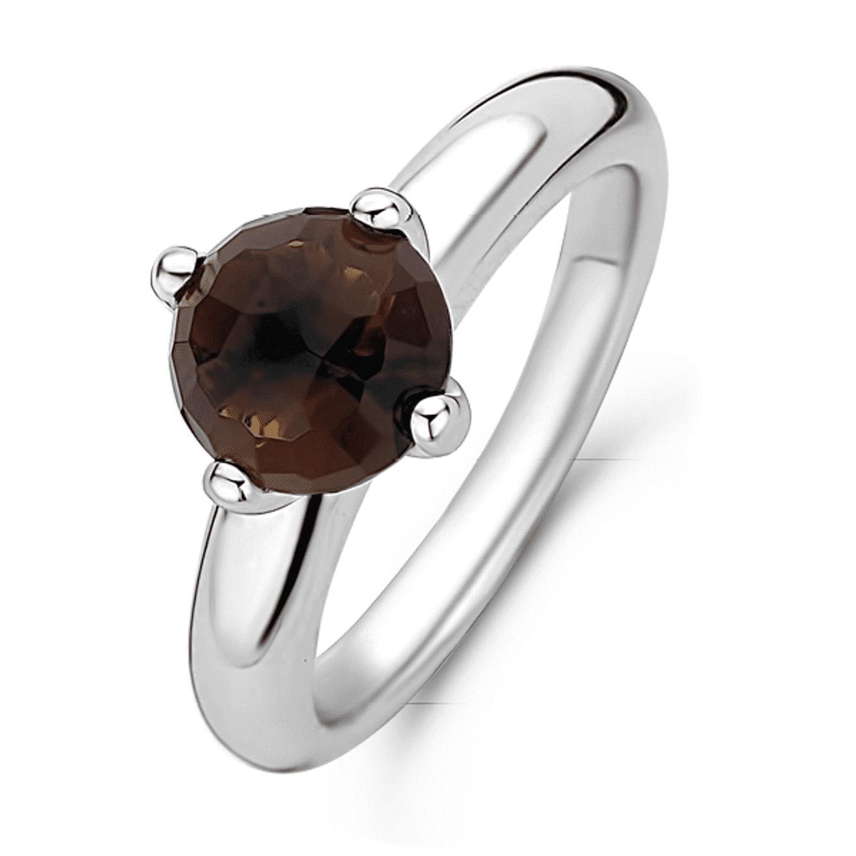 TI SENTO-Milano 12179TB Ring zilver-bruin Maat 52