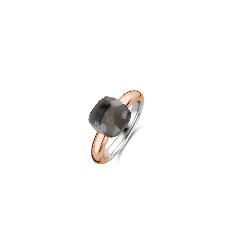 TI SENTO Milano Ring 12187GB Zilver rose plated Maat 62