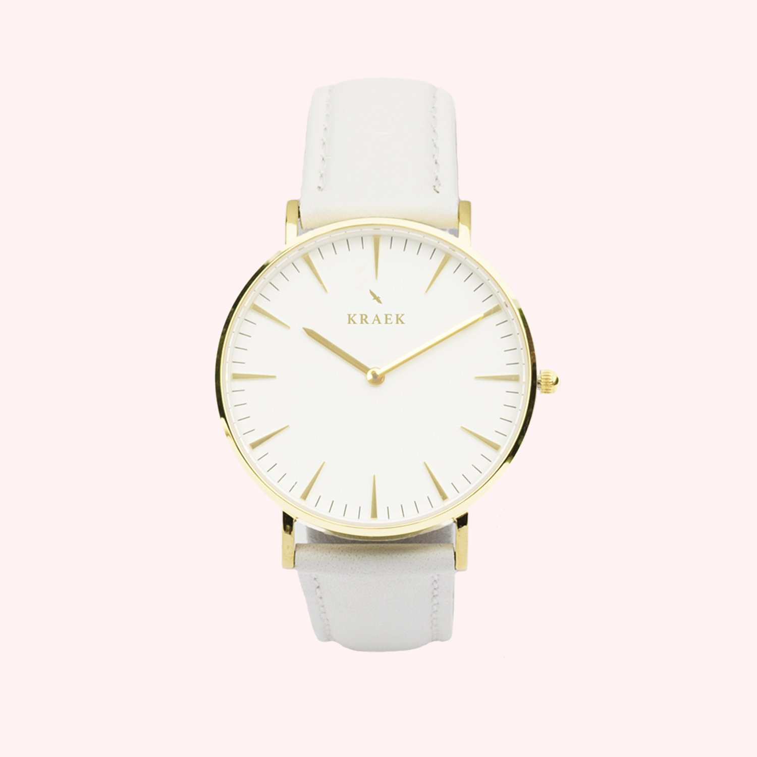 KRAEK Deryn | Gold | White 36 mm Dameshorloge