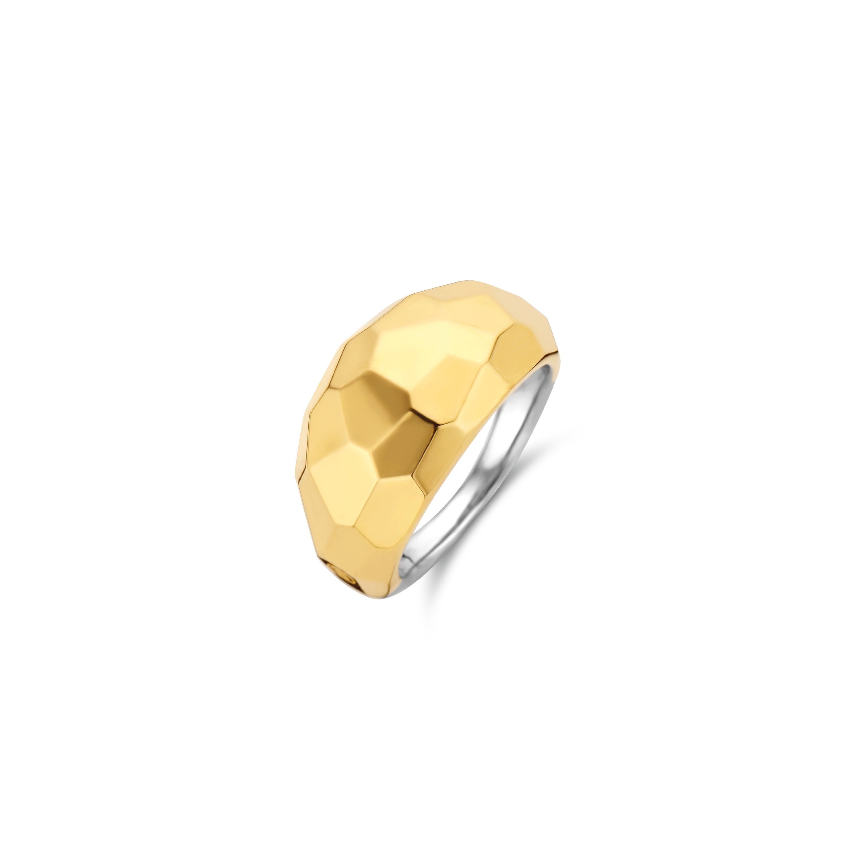 TI SENTO Milano Ring 12200SY Zilver gold plated Maat 52