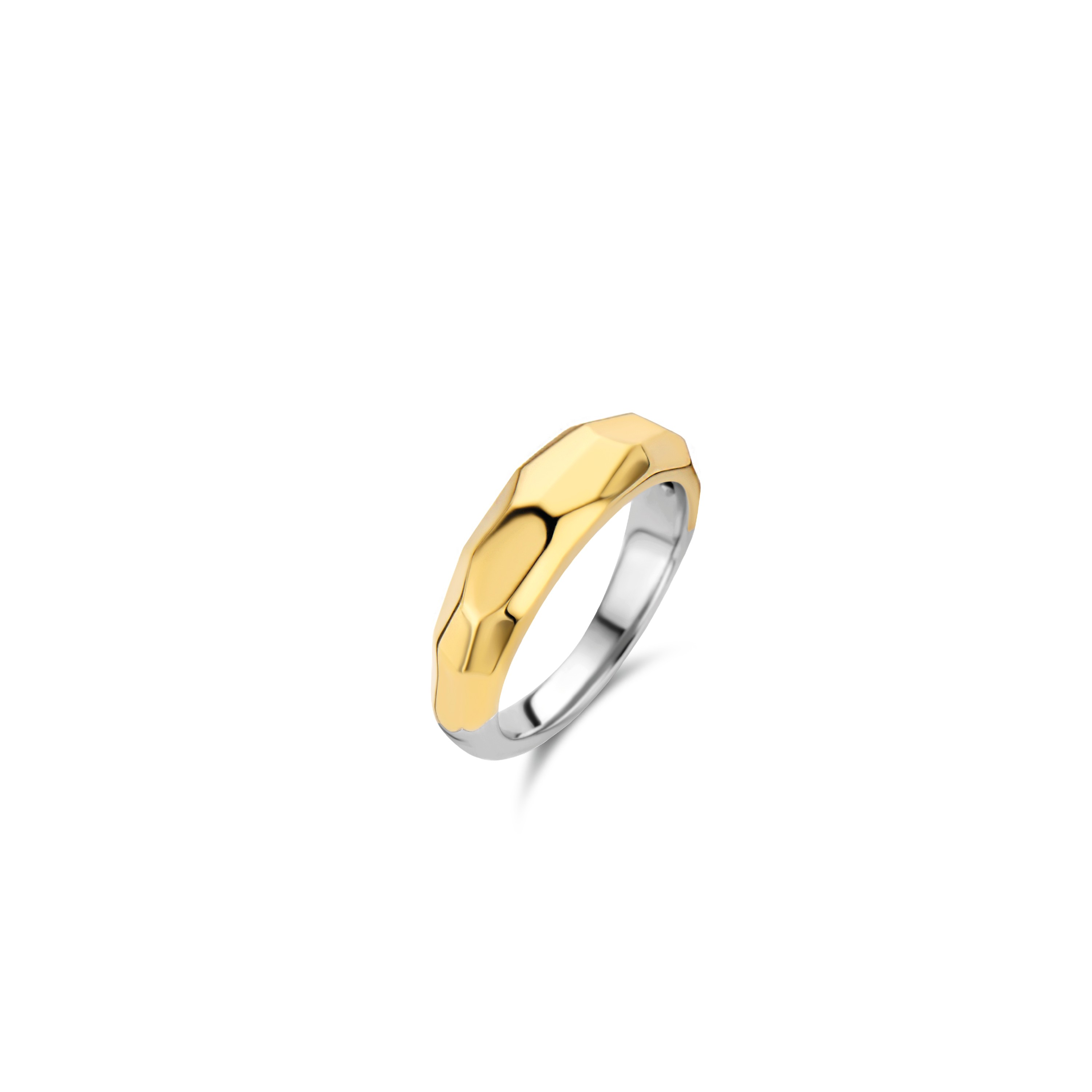 TI SENTO Milano Ring 12201SY Zilver gold plated Maat 60