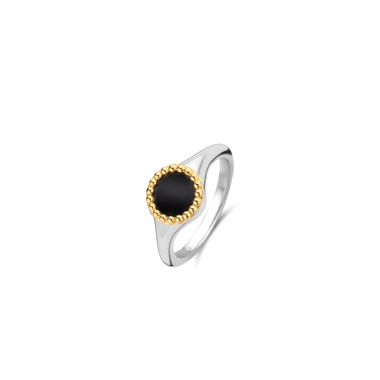TI SENTO Milano Ring 12207BO Zilver gold plated Maat 48